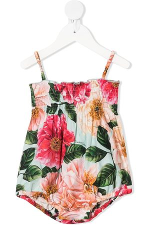 Dolce & Gabbana Floral-print ruched body
