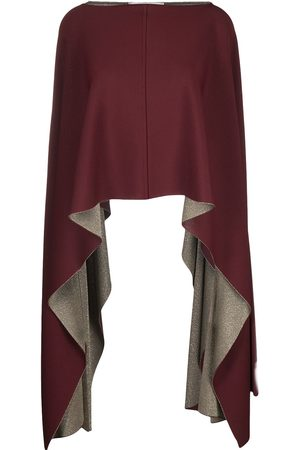 VALENTINO Draped cropped poncho