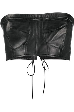 Manokhi Senhora Tops de Cavas - Cropped leather top