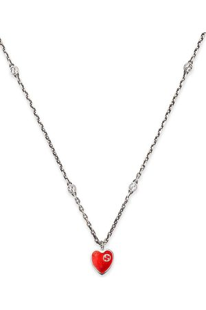 Gucci Interlocking G heart pendant necklace