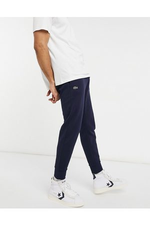 Lacoste Slim leg sweat joggers in navy-Black