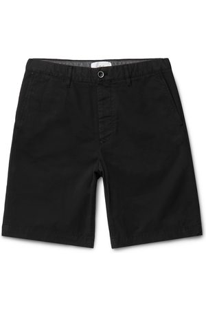 Mr P. Homem Bermudas - Garment-Dyed Cotton-Twill Bermuda Shorts