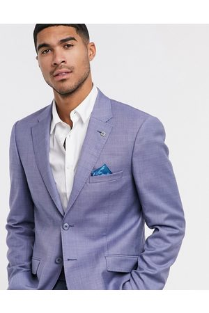Ted Baker Strong debonair plain slim fit suit jacket-Blue