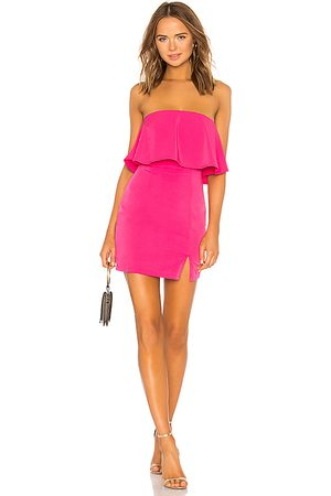 superdown Catalina Ruffle Tube Mini Dress in - Pink. Size L (also in M, S, XS, XXS).
