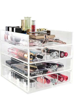 Impressions Vanity Diamond Collection Open Top 4-Tier Organizer in /A - Beauty: NA. Size all.
