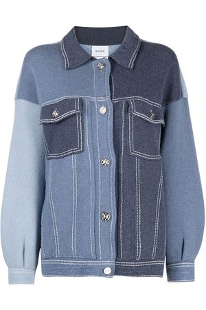 Barrie Patchwork buttoned cardigan