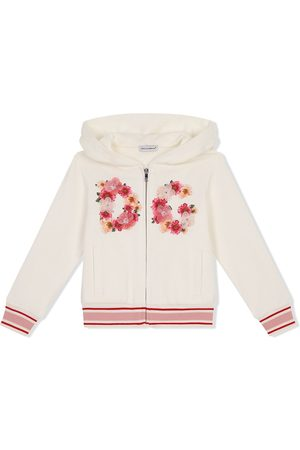 Dolce & Gabbana Floral logo-embroidered hoodie