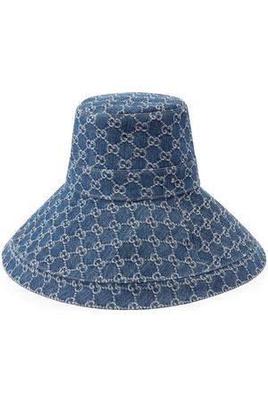 Gucci GG supreme denim wide brim hat