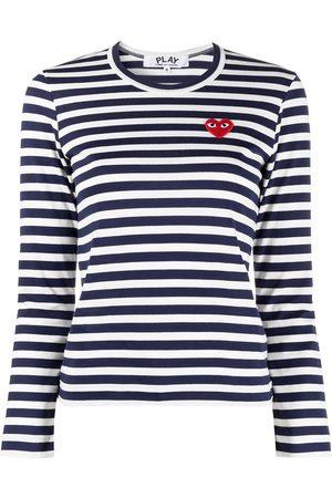 Comme des Garçons Senhora Manga comprida - Striped print long-sleeve T-shirt