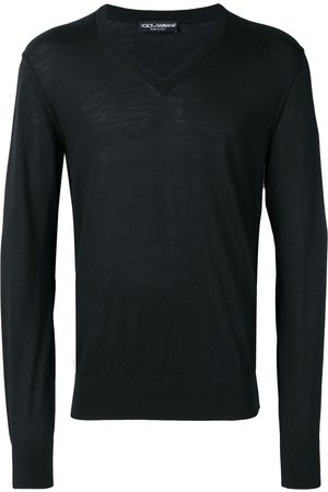 Dolce & Gabbana Homem Camisolas - V-neck knitted jumper