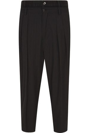 Dolce & Gabbana Pinstripe double-waist tapered trousers