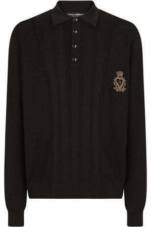 Dolce & Gabbana Ribbed silk-blend polo shirt