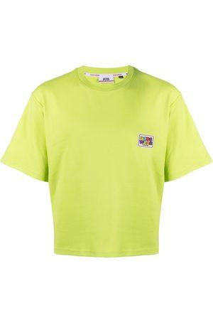 GCDS Cropped logo patch T-shirt