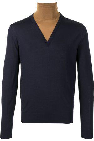 Dolce & Gabbana Homem Camisolas - Two-tone roll-neck jumper