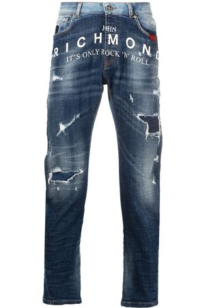 John Richmond Homem Slim - Mick distressed two-tone jeans