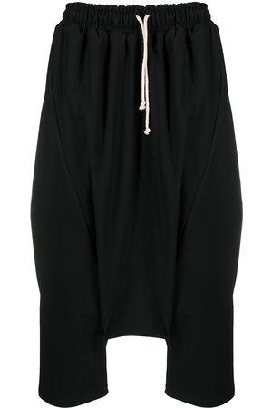 Alchemy Homem Calças Justas - Cropped stretch-cotton drop-crotch trousers