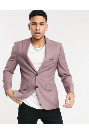 Harry Brown Skinny fit suit jacket-Pink