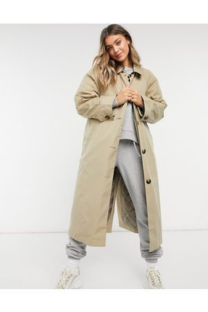 ASOS Boyfriend trench with quilted liner in stone