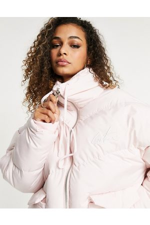 The Couture Club Signature padded coat in pink