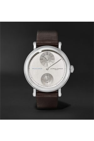 Laurent Ferrier École Régulateur Automatic 40mm Stainless Steel and Leather Watch, Ref. No. LCF026.AC.GN1.1