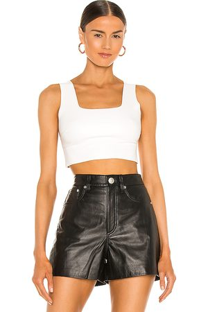 Commando Faux Leather Crop Top in - . Size L (also in M, S).
