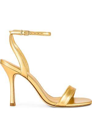 Larroude The Nyx Heel in - Metallic Gold. Size 10 (also in 5.5, 6, 6.5, 7, 7.5, 8, 8.5, 9, 9.5).