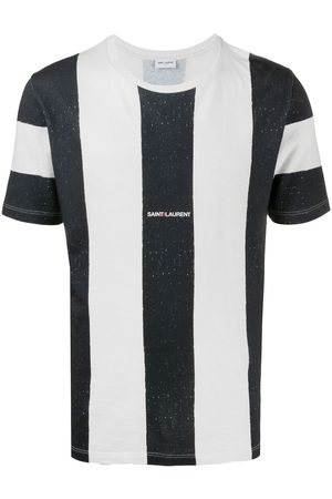 Saint Laurent Striped logo T-shirt