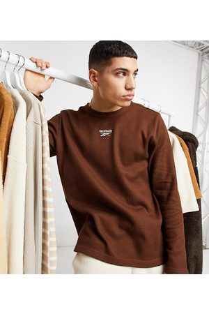 Reebok Classics Toast long sleeve t-shirt in brown waffle exclusive to ASOS