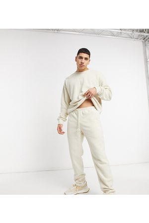Reebok Classics Toast co-ord joggers in off white terry towelling exclusive to ASOS-Cream