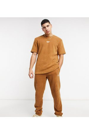 Reebok Classics Toast co-ord joggers in tan terry towelling exclusive to ASOS