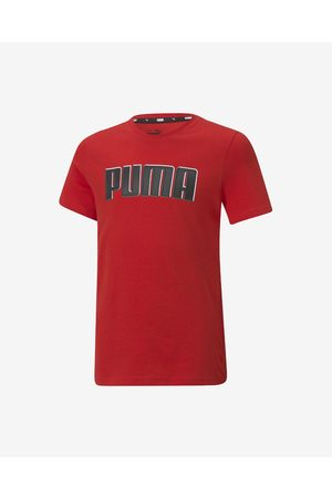 PUMA Menino T-shirts & Manga Curta - Alpha Graphic Kids T-shirt Red