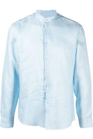 PENINSULA SWIMWEAR Crinkled effect round neck shirt