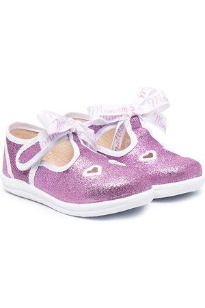 MONNALISA Glitter-detail sandals