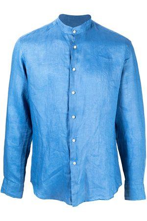 PENINSULA SWIMWEAR Crinkled effect curved hem shirt