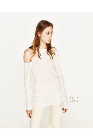 Senhora T-shirts & Manga Curta - Zara T-SHIRT CUT OUT JOIN LIFE - Disponível em mais cores