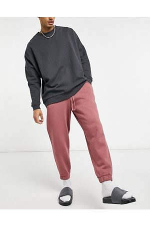 ASOS Co-ord oversized joggers in washed berry-Purple