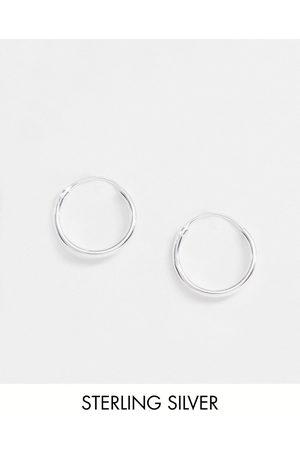 ASOS Sterling silver 12mm hoop earrings in silver