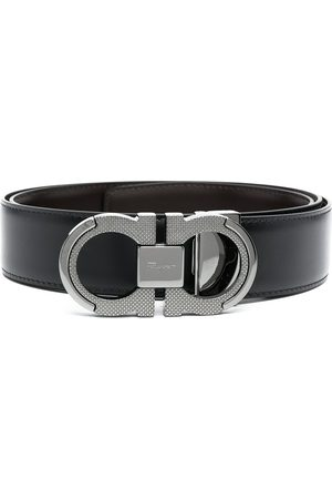 Salvatore Ferragamo Homem Cintos - Brushed calf leather Gancini belt