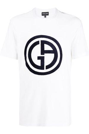 Armani Homem T-shirts & Manga Curta - Logo print T-shirt