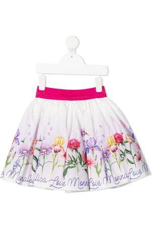 MONNALISA Floral-print pleated skirt