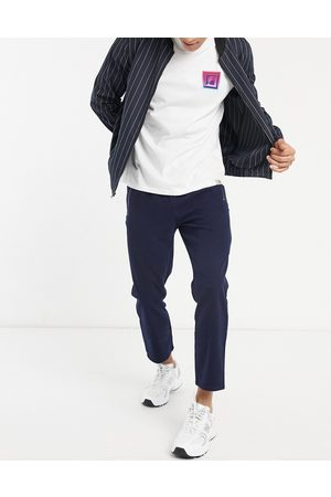 ASOS Slim trousers in navy