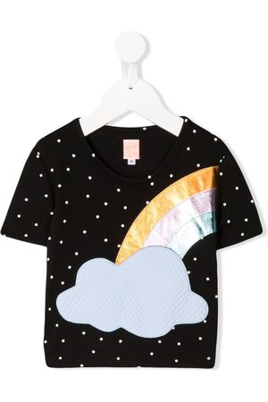 WAUW CAPOW by BANGBANG Short sleeve dotted rainbow T-shirt
