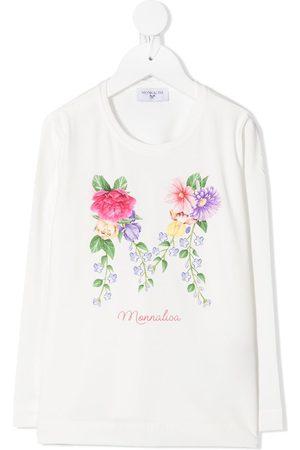 MONNALISA Floral M print T-shirt