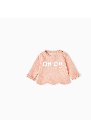 """Criança Camisolas sem capuz - Zara SWEATSHIRT """"OH OH"""""""