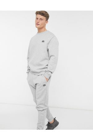 River Island Quilted lounge sweatshirt in grey