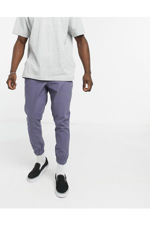 ASOS Tapered chino joggers in blue-Grey