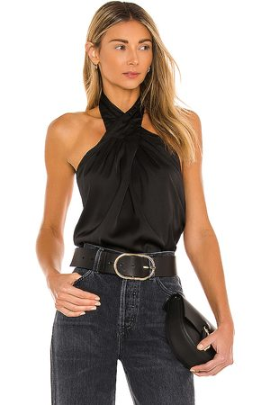 superdown Amerie Pleated Halter Top in - . Size L (also in M, S, XS, XXS).