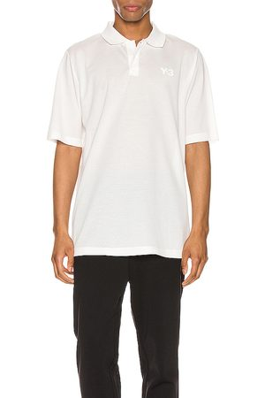 Y-3 Pique Polo in - White. Size L (also in M, S, XL).
