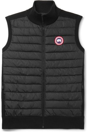 Canada Goose Homem Coletes - HyBridge Slim-Fit Merino Wool and Quilted Nylon Down Gilet