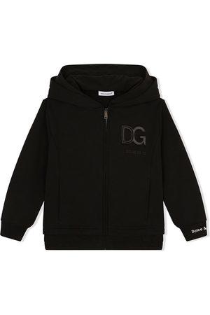 Dolce & Gabbana Logo patch zip-front hoodie